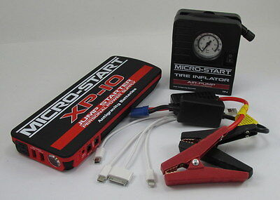 Mini Mobile Emergency Roadside Auto Travel KIT Jumps ANY car & INFLATES TIRES!!