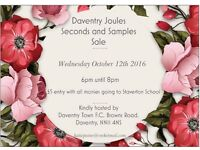 Daventry Joules Seconds and Sample sale