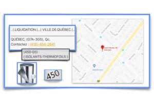 (450-05) { ISOLANTS-THERMOFOILS } AUBAINE !! - 90.00$ /ch.
