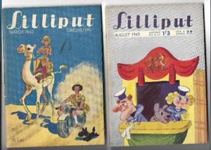 LILLIPUT(mag) March 1943 and AUGUST 1943    2 ISSUES