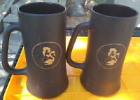 2 PLAYBOY CLUB BLACK FROSTED GLASS BEER STEINS MUGS Gold FEMLIN Longueuil / South Shore Greater Montréal Preview