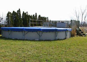 24' above ground pool for only 200$  You dismantle and remove