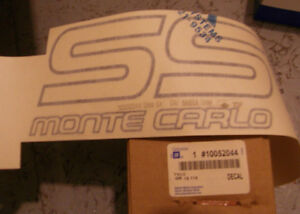 1987 Monte Carlo SS Decal - Original GM