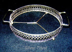 Vintage Silver Trivet for table-top service, elegant and lovely