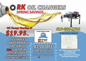 Oil Change starting at $19.95, Car Detailing and Tire Service