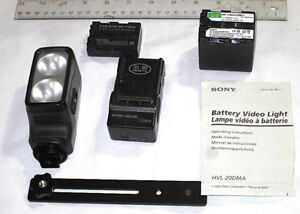 Sony On-camera Video Light and Accessories