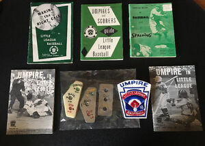OFFERS? 60s LITTLE LEAGUE Baseball UMPIRE Books Counters Patch