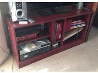 Mahogany coloured TV / Hi-fi Unit good condition