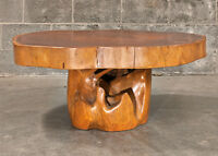 Table a café en teck et acajou - Teak and mahogony coffee table