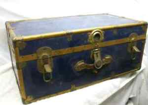 Vintage Metal Trunk large