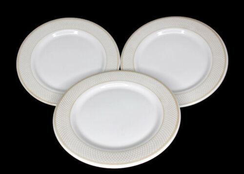 "Buffalo China by Oneida USA Restaurant Ware Set of 3 Dinner Plates 10.5"""