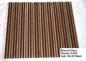 MOSAICS IN STOCK SALE - AIR STRIP BROWN GLASS STRIPS
