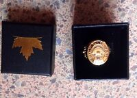 """ring """"fake"""" yellow gold boston bruins 1929 Stanley cup champions"""