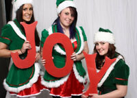 Christmas Elves Face Painting & Glitter Tattoos or helping Santa