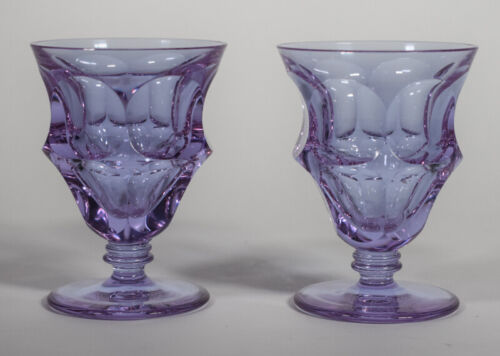 Moser Alexandrite Pair of Cocktail Glasses, Circa 1930