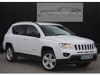 Jeep Compass 2.2 CRD Limited ( 161bhp ) ( 4WD ) Manual White *Full Spec*