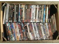 A large collection of over 300 dvds
