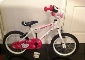 "(2765) 16"" 9"" HELLO KITTY Girls Kids Childs Bike Bicycle; Age: 5-7, Height: 105-120 cm"