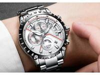NEW 2018 Luxury Watches Top Brand Full Steel Business Waterproof Watch