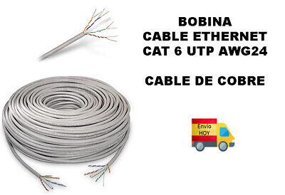 Bobina Cable Red UTP COBRE Ethernet 50m metros RJ45 CAT6 Cat 6...