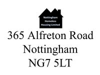 HOMELESS ACCOMMODATION IN NOTTINGHAM - JSA, ESA, PIP, UNIVERSAL CREDIT ALL ACCEPTED