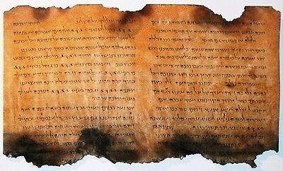 Dead Sea Scrolls, Christian Hebrew, Judaic Parchment, King David, Book Of Psalms