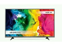 "LG 49"" LED 4K UHD smart wifi tv built USB MEDIA PLAYER HD FREEVIEW"