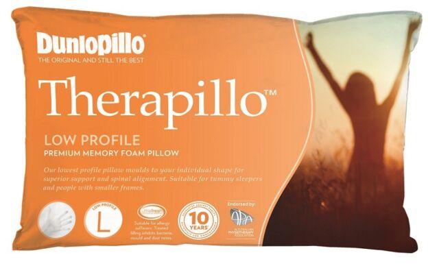 Tontine Dunlopillo Therapillo Low Profile Memory Foam Pillow RRP $149.95
