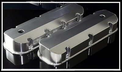 Bbc Big Block Chevy 396 454 496 Fabricated Tall Aluminum Valve Covers 6248 Satin