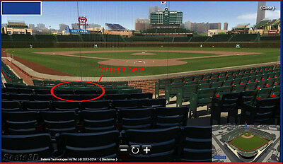 2018 CHICAGO CUBS Tickets Dugout Box Section 22 Row C - AA22 | Row C | 2 Seats