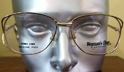 Gold Women Day eyewear Eyeglass Frames Vintage 90s NOS