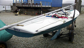 Classic Flying Fifteen keeled sailing dinghy, keel boat, good condition, inc trailer. F15, Flying 15