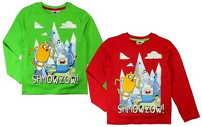 Adventure Time Shirt langarm 122 128 134 Junge Langarmshirt Finn und Jake NEU