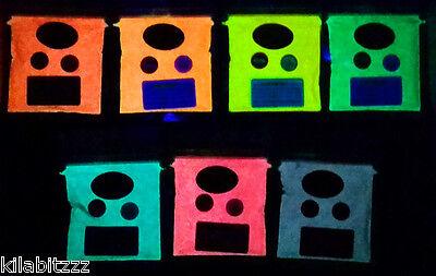 V blacklight reactive fluorescent pigment powder 25g ORANGE (Glow In The Dark Orange)