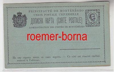 75954 seltene Ganzsachen Postkarte Montenegro 5 Nkr. vor 1900
