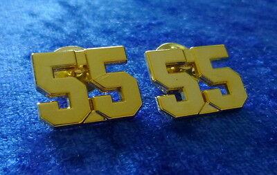 2 x NYPD #55 Kragenabzeichen # US Police # Polizei # Third Watch