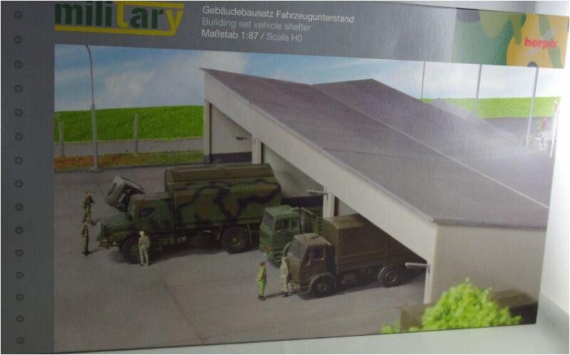 Herpa 745499 Military: Gebäudebausatz Fahrzeugunterstand,