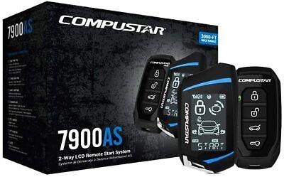 Compustar CS7900AS 3000ft MAX Remote Start+Alarm LCD Remote Siren Shock Sensor