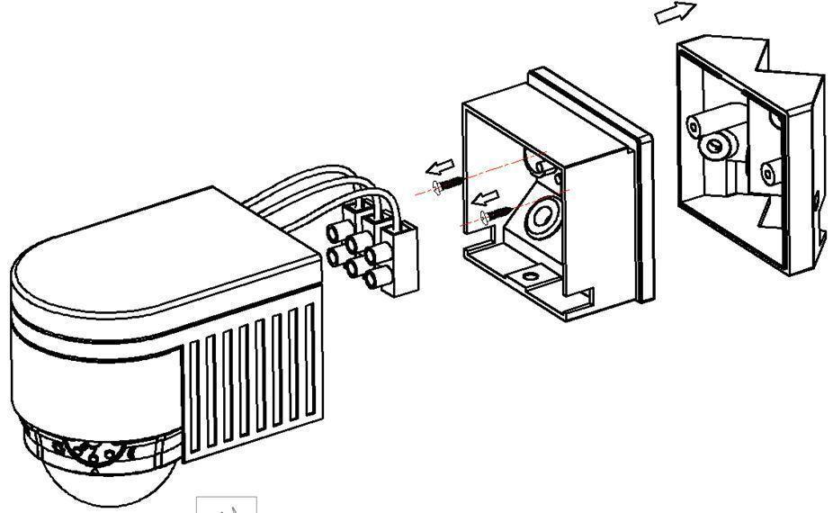 black pir 360 u00b0 motion sensor detector outdoor new ip44 certified 3 in 1 mount