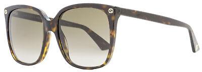 Gucci Square Sunglasses GG0022S 003 Havana 57mm (Gucci 57mm Sunglasses)