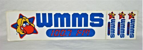 "Cleveland WMMS 100.7 FM ""THE BUZZARD"" Bumper Sticker/Decal w/3 Mini Stickers"