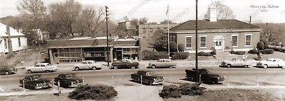 Phenix City  Alabama Post Office 1955 Panoramic Sepia Photo 5  X 14  Free Shippi