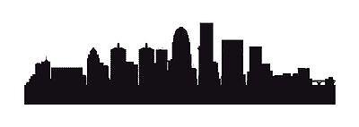 LOUISVILLE Kentucky City Skyline Silhouette Car Decal Window Wall Sticker ()