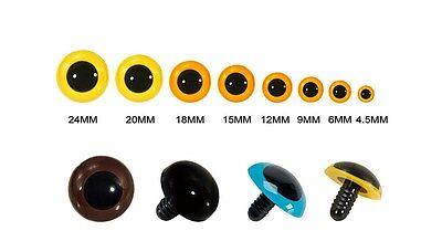 Animal Eyes Black Centers & Metal Washers for Bear Soft Toys Animal Doll Japan (Craft Eyes)