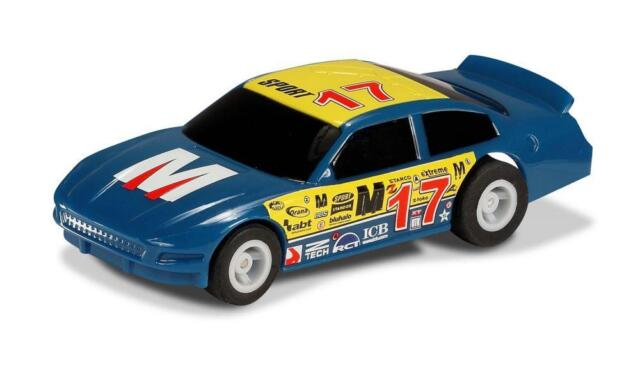 NEW Scalextric - Micro Scalextric US Stock Car - Blue 17 1:64 Scale