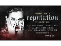 Taylor Swift Tickets x3 - 8th June 2018 - Manchester Etihad Stadium