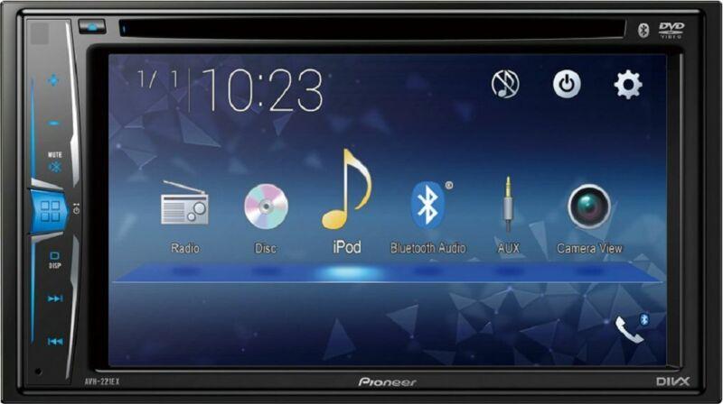 "Pioneer - Multimedia DVD Receiver with 6.2"" WVGA Clear Resistive Display - Black"