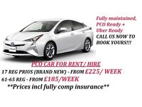 FROM £185 / WEEK (INCL FULLY COMP INSURANCE) PCO CAR FOR HIRE/ RENT, UBER READY