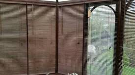 Wood effect venetian blinds