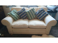 2-3 seater sofa - cream, great condition. Collection only